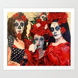 Tres Hermanas ( Three Sisters) Art Print
