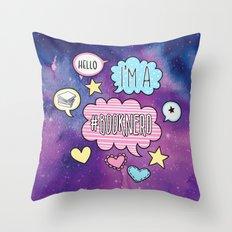 Hello, I'm a Booknerd - Purple Throw Pillow