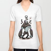 diablo V-neck T-shirts featuring BFF - Diablo - Gargantuan by Peter Forsman