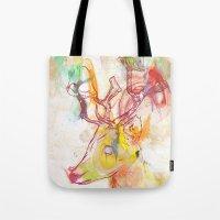 archan nair Tote Bags featuring Maritza by Archan Nair