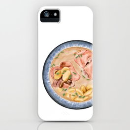 Kidney bean trotters soup | 老妈蹄花 iPhone Case