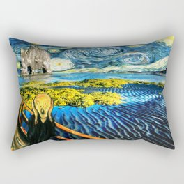 Edvard meets Vincent Rectangular Pillow