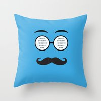 geek Throw Pillows featuring Geek by Nora