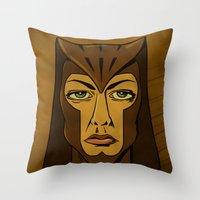watchmen Throw Pillows featuring It's Always Sunny in Watchmen - Sweet Dee by Jessica On Paper