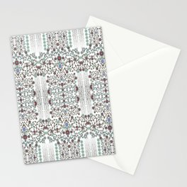 Millefiori flowers design- hand painted-3D effect-romantic and floral Stationery Cards