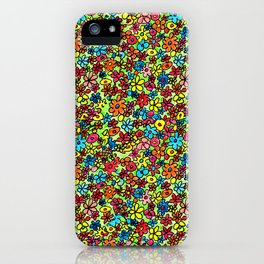 Flower doodles iPhone Case