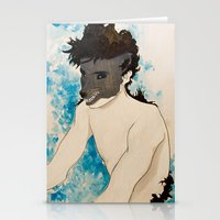 beast Stationery Cards featuring Beast by Cat Rocketship