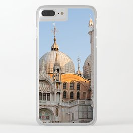 Early morning above the Saint Mark's Basilica. Architectural details. Clear iPhone Case