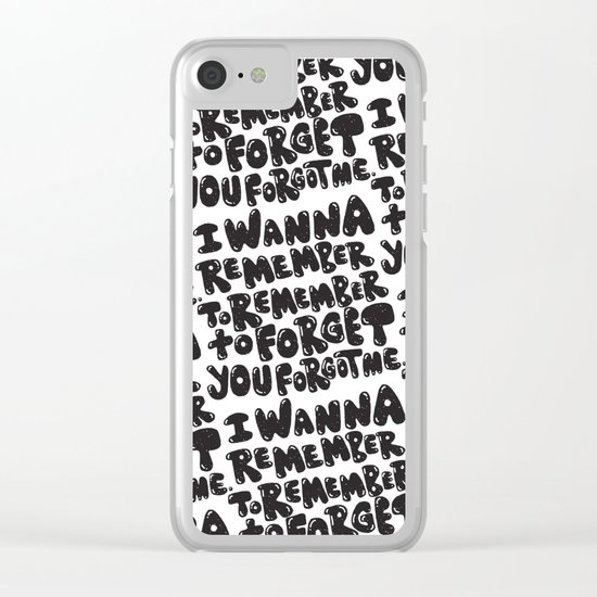 REMEMBER TO REMEMBER Clear iPhone Case