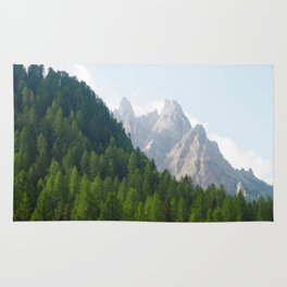 Forest Pines and Mountain Spikes Rug
