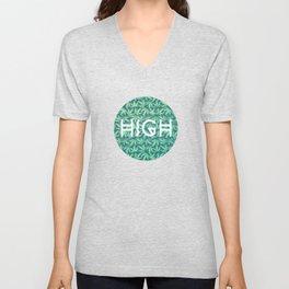 HIGH TYPO! Cannabis / Hemp / 420 / Marijuana  - Pattern Unisex V-Neck
