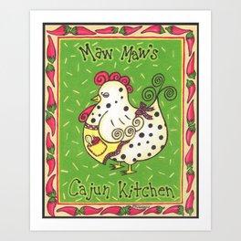Maw Maw's Cajun Kitchen Art Print