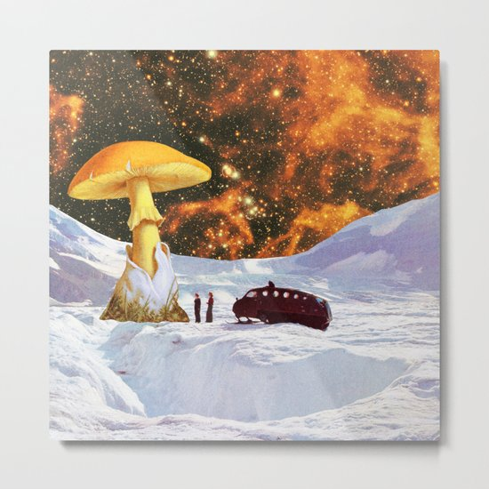 Withe Planet Metal Print