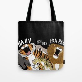 Big Cats Laughing Tote Bag