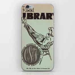Vintage Rental Library iPhone Skin