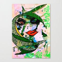 Dolphin Rhythm tetkaART Canvas Print