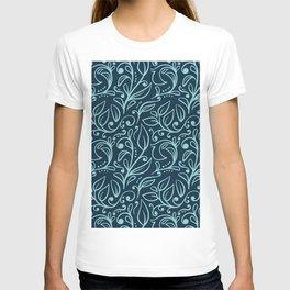 Floral Leaf Pattern T-shirt