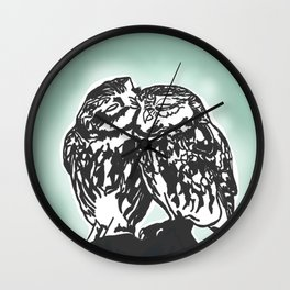 owls in love Wall Clock