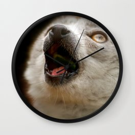 Crowned Lemur Singing Wall Clock