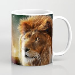 Lion face .King of beasts abstraction Coffee Mug