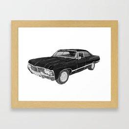 '67 Chevy Impala (w/o background) Framed Art Print