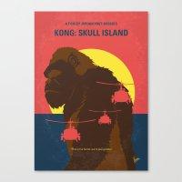 No799 My SKULL ISLAND minimal movie poster Canvas Print