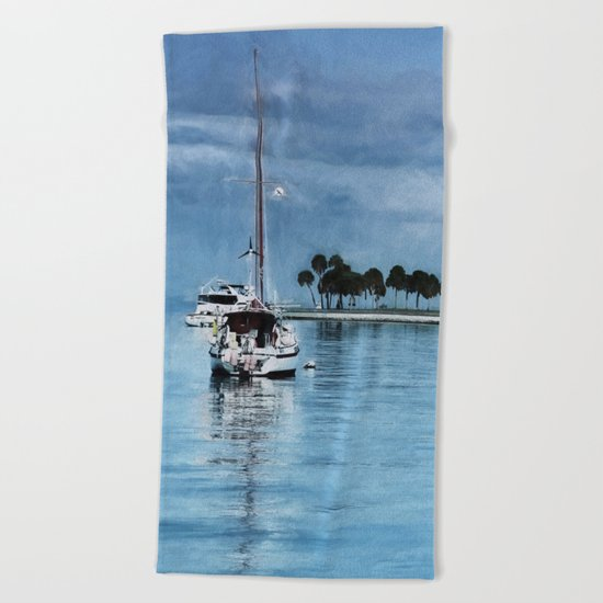 Lost In Tranquility Beach Towel