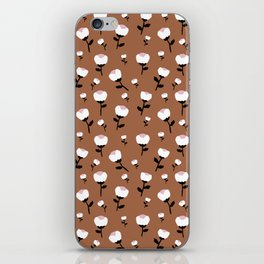 Paper cut cotton boll flowers fall bloom copper iPhone Skin