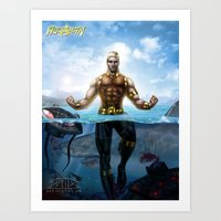 aquaman Art Prints featuring Aquaman by Art By AntB