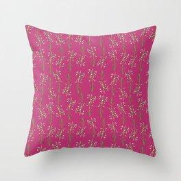 Myrtle Magenta Throw Pillow