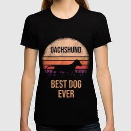 Dachshund print For Dog Lovers Cute Dog T-shirt