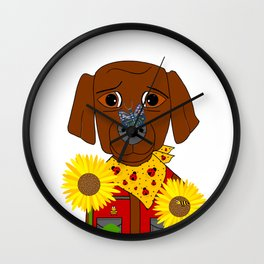 Dog Nature Lover Wall Clock