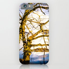 Real Life Ladders Game At Möhne Reservoir Lake bright iPhone Case