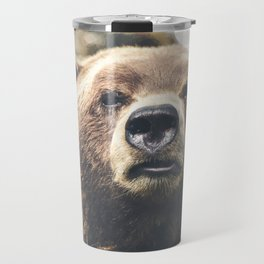 Geometric Bear Travel Mug