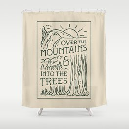 Over The Mountains Shower Curtain