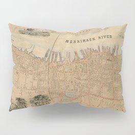 Vintage Map of Newburyport MA (1851) Pillow Sham