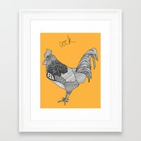 cock Framed Art Prints featuring Cock by lush tart