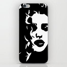 """"""" Fashion/Beauty Collection """" - Woman With Curly Hair iPhone Skin"""