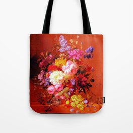 Passion Fruits and Flowers Tote Bag