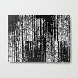Forest Winter Pattern Metal Print