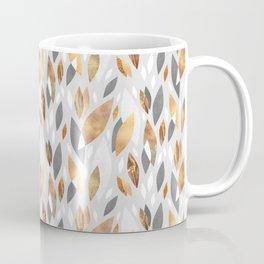 Falling Gold Leaves Coffee Mug