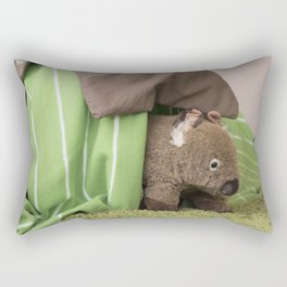 Wombat's Classiest Burrow Yet Rectangular Pillow