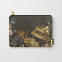 Balthasar Van Der Ast - Still Life Of Flowers  Fruit  Shells  And Insects Carry-All Pouch