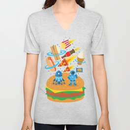 Space Burger Unisex V-Neck