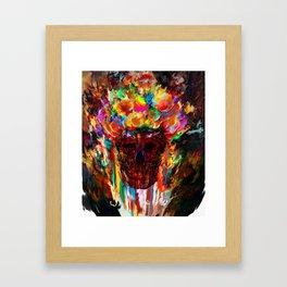 autumn skull Framed Art Print