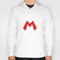 nintendo Hoodies featuring Nintendo Mario by JAGraphic