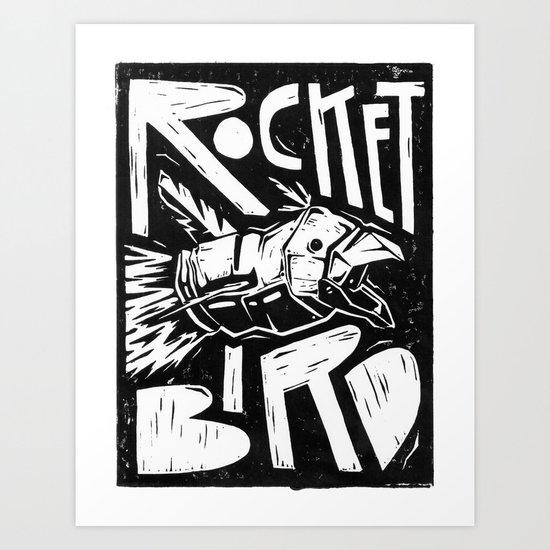 Rocket Bird Art Print
