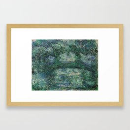 The Japanese Bridge by Claude Monet Framed Art Print