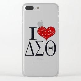 I Love DST Bandana Design Clear iPhone Case