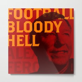 Football Bloody Hell Metal Print